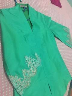 Outfit kondangan/ kebaya tosca/ baju kondangan