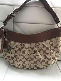 Authentic Coach Large Signature Hobo Handbag Purse