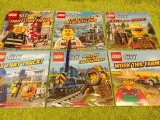 6 LEGO CITY books from Scholastic 99%新 造工極精美 親子閱讀 合小學生 平過書展價