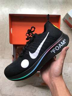 US 10 Off White Nike Zoomfly Mercurial Black