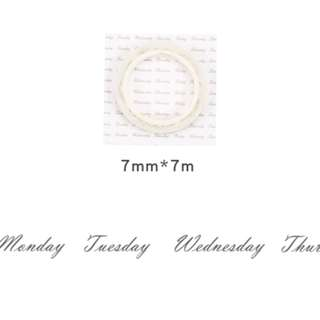 [INSTOCKS] 7mm wide 7m High Quality Washi, Masking Weekly Label Tape