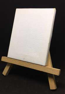 Mini Easel Stand and Canvas (3 x 3)