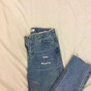 牛仔長褲s 尺寸在圖三別再問我多大囉
