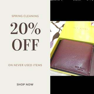 Ted Baker Wallet - Aunthentic - Brand New In Box