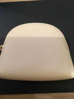 Furla Bag new real 15x13x4cm creamy white colour