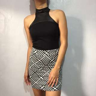 River Island Halter top with leather accent
