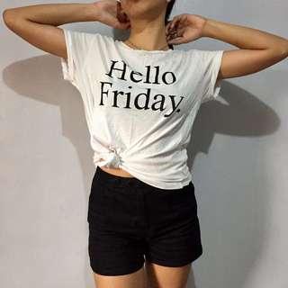 Mango Hello Friday white tee