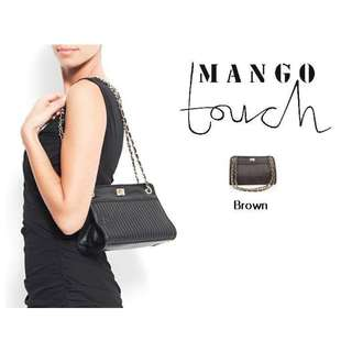 Mango Touch Quilted Chain Strap Shoulder Bag