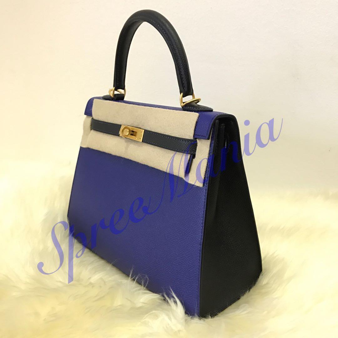 0dd8c71c832e 💯% Authentic BN Hermes HSS Sellier 25 Blue Electric Black