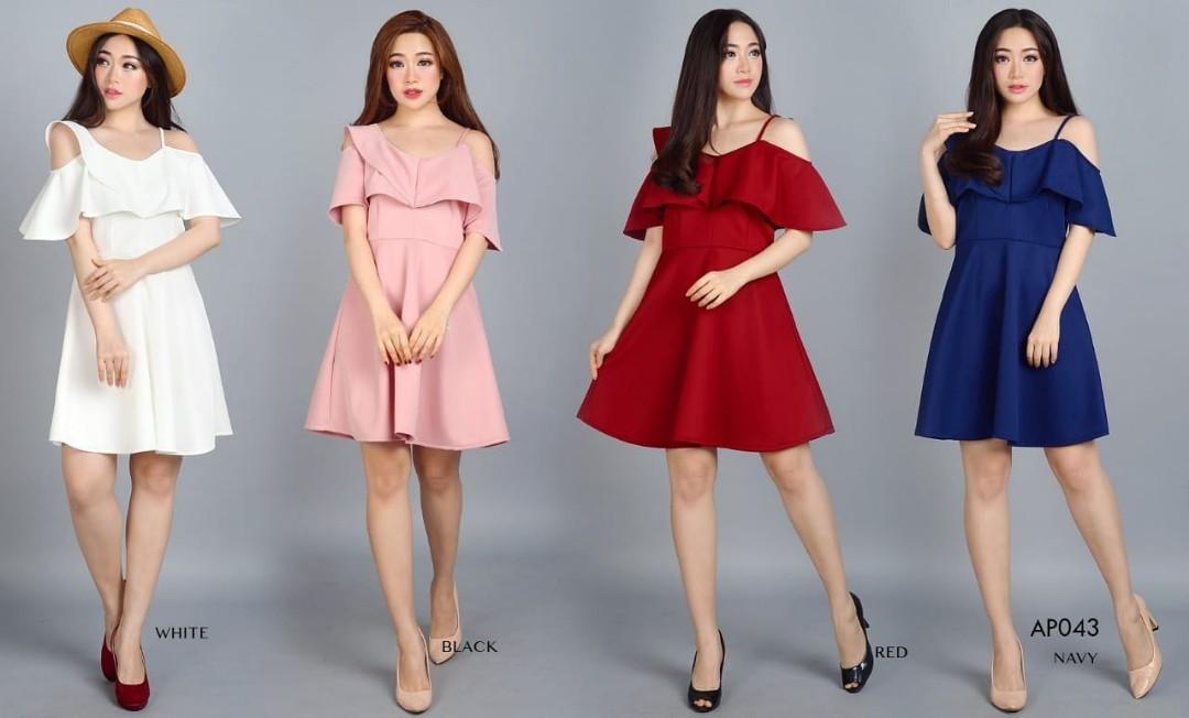 Ap043 Fashion Baju Outfit Pakaian Dress Gaun Pesta Casual Maxy Party
