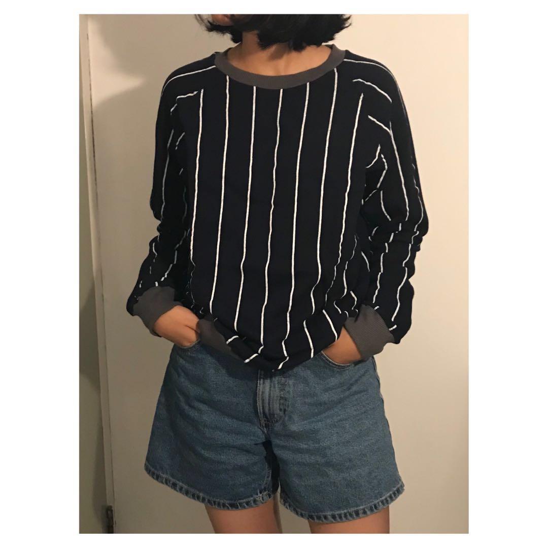 ARGYLE & OXFORD Stripes Sweater, Women's Fashion, Women's Clothes on Carousell