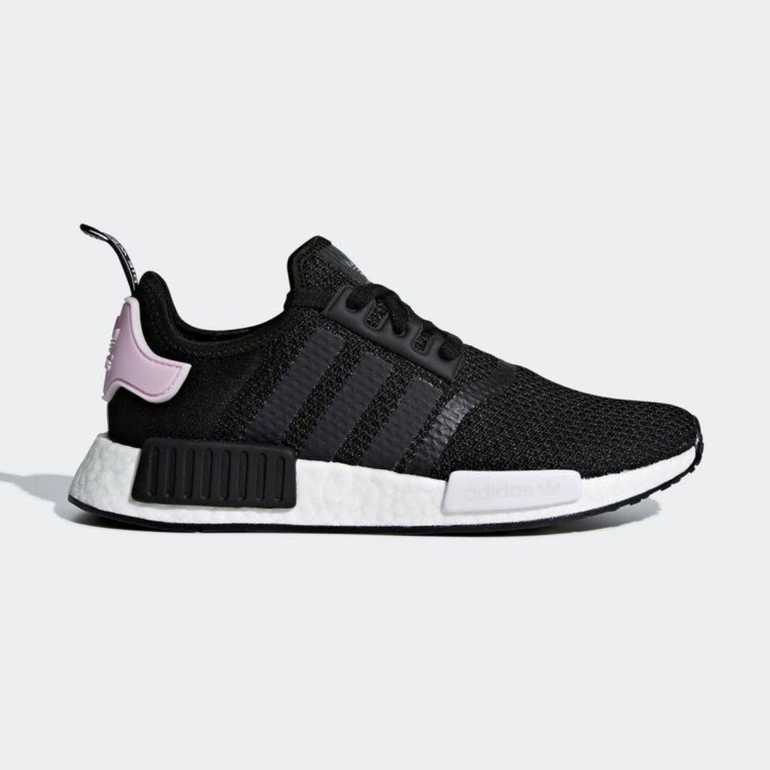 4f612e20af07 Authentic Adidas NMD R1 Black   Pink