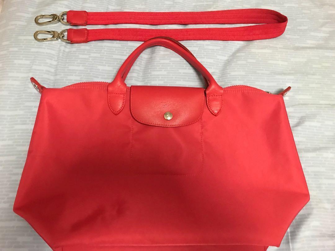 Authentic Longchamp Le Pliage Neo Medium Nylon Tote Bag Womens Small Black Fashion Bags Wallets Handbags On Carousell