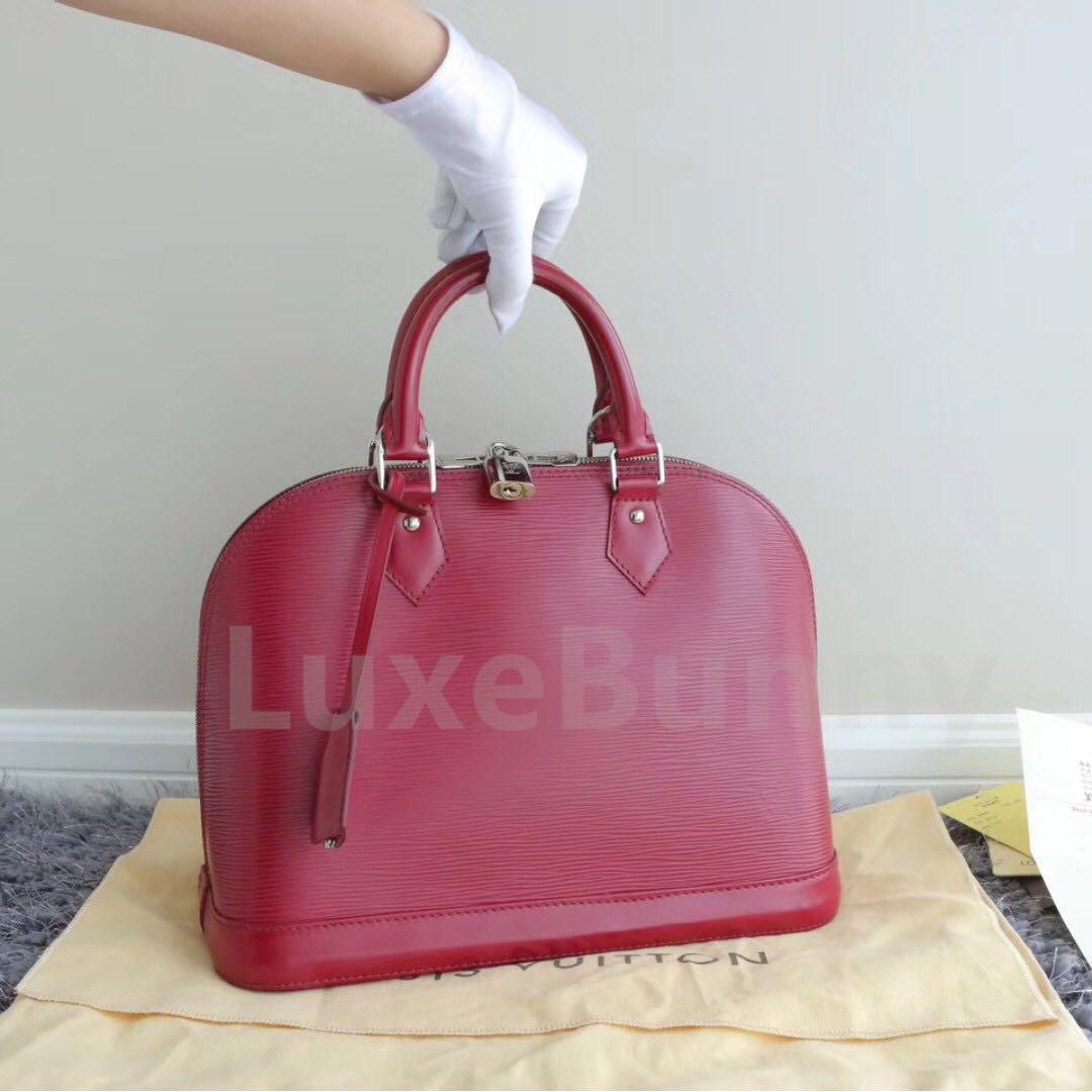 6a15fbe820b Authentic Louis Vuitton Alma PM Epi, Luxury, Bags & Wallets on Carousell