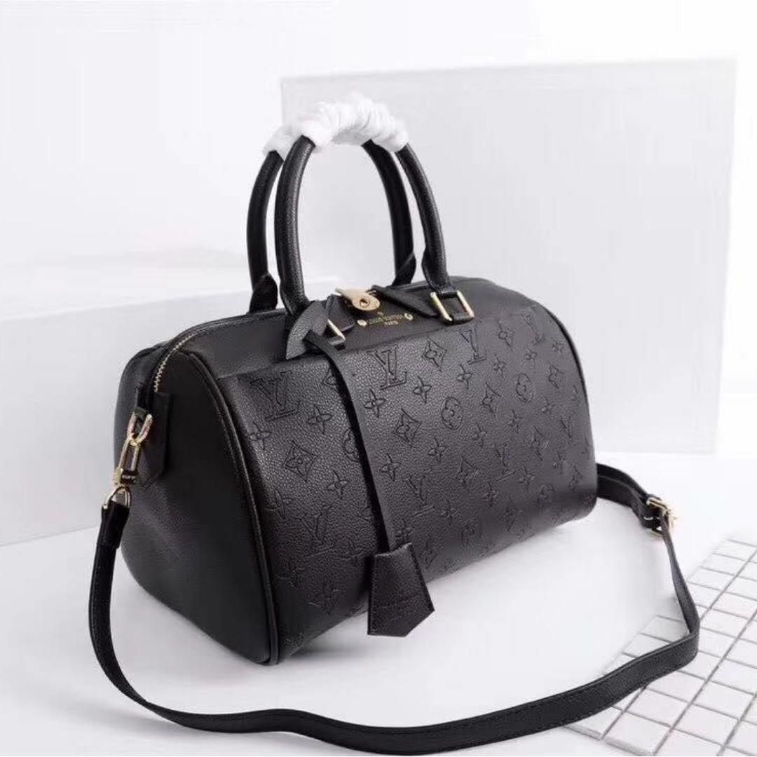 Authentic Quality Louis Vuitton Speedy Bandouliere Empreinte Leather 3-Way  LV Bag Handbag Shoulder Bag Sling Bag Crossbody Bag Latest Edition Women s  Bag 891fa9117943c