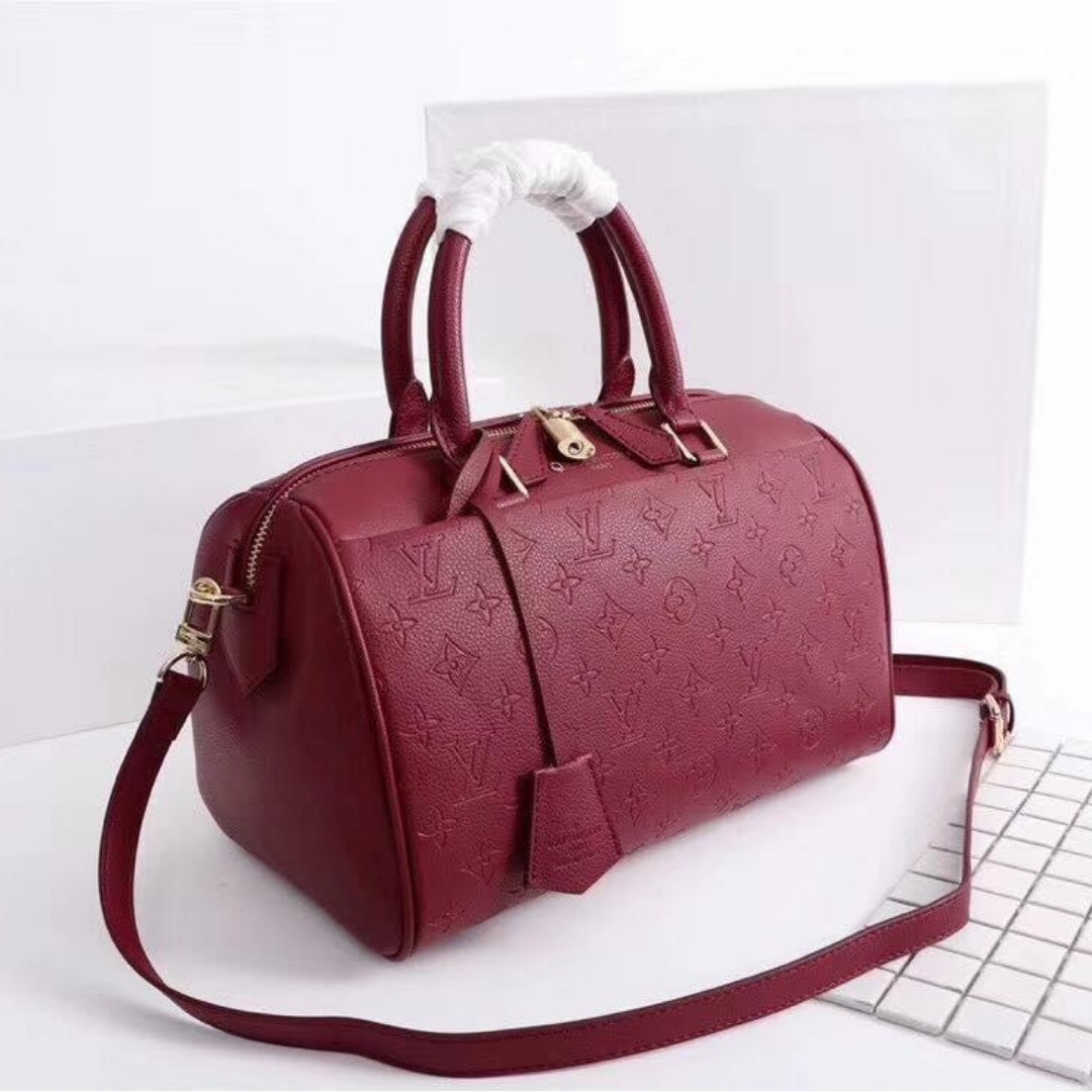 5c3c10c4b531 Authentic Quality Louis Vuitton Speedy Bandouliere Empreinte Leather ...