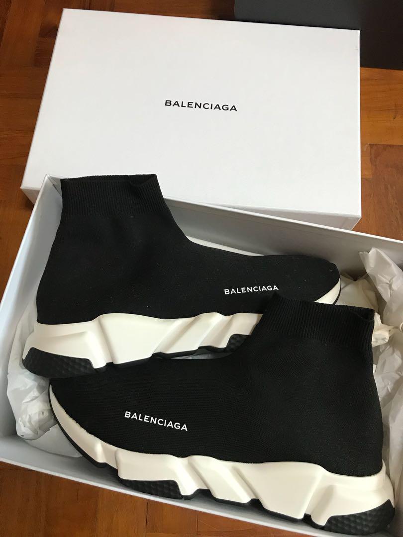 Balenciaga Sock Runner Black, Men's