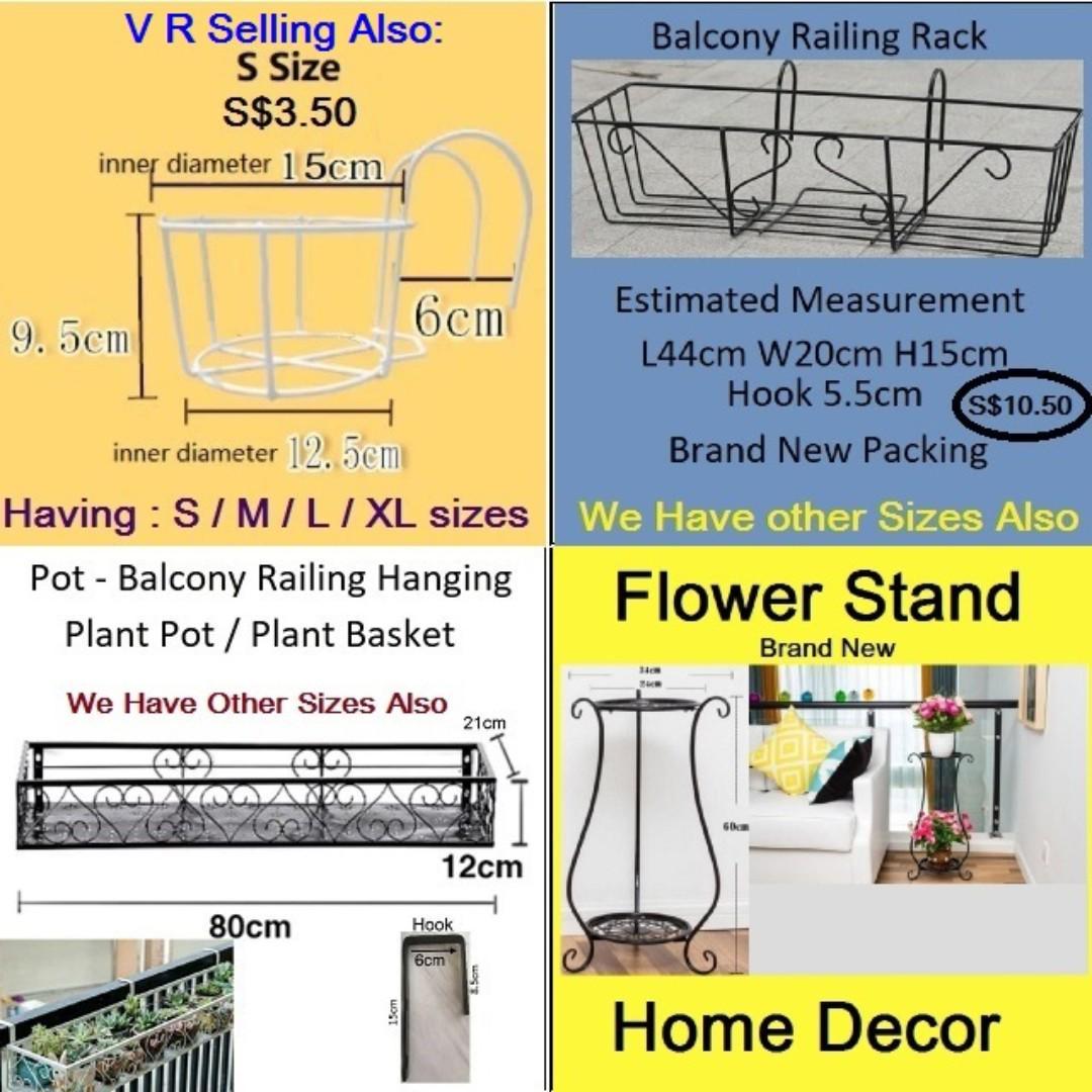 Basket - Pot - Plant Pot / Flower Pot / Balcony Hanging Rack