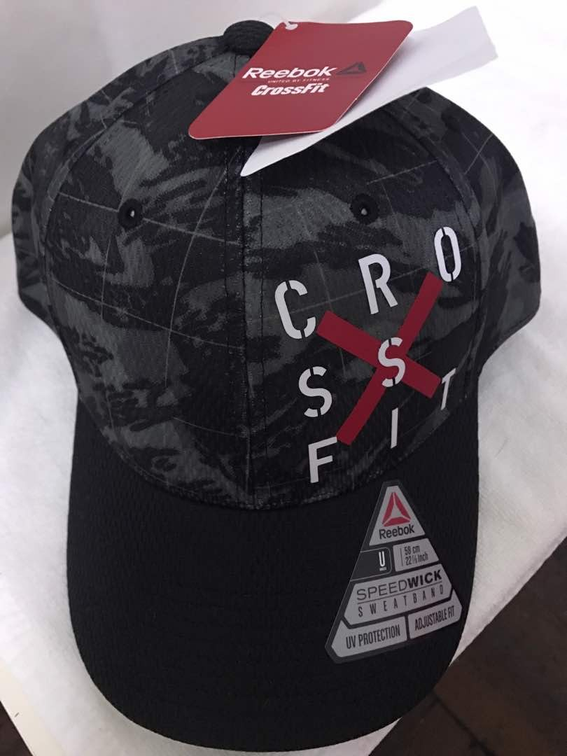 aa1c1550 Brand new Reebok crossfit camouflage army green cap, Sports, Sports Apparel  on Carousell