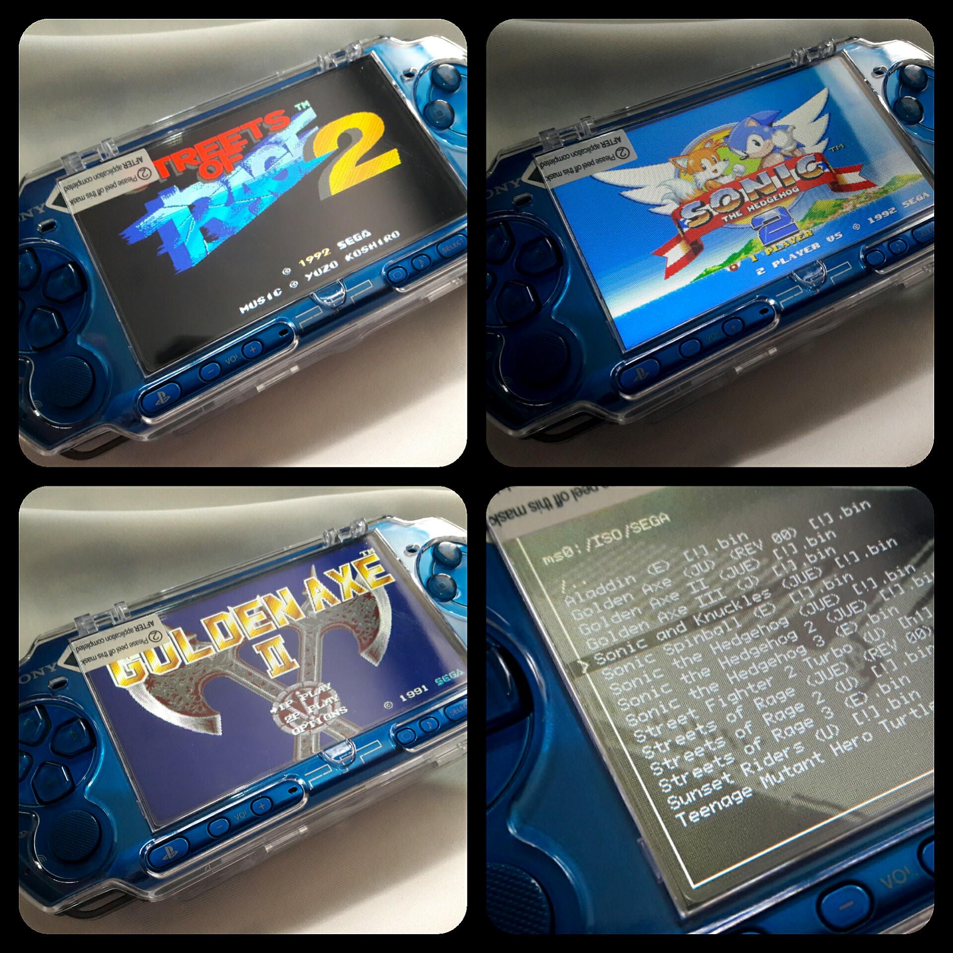 Carnival Vibrant Blue PSP Slim 3000 ( SEALED ) 4gb v6 60 Downloadable