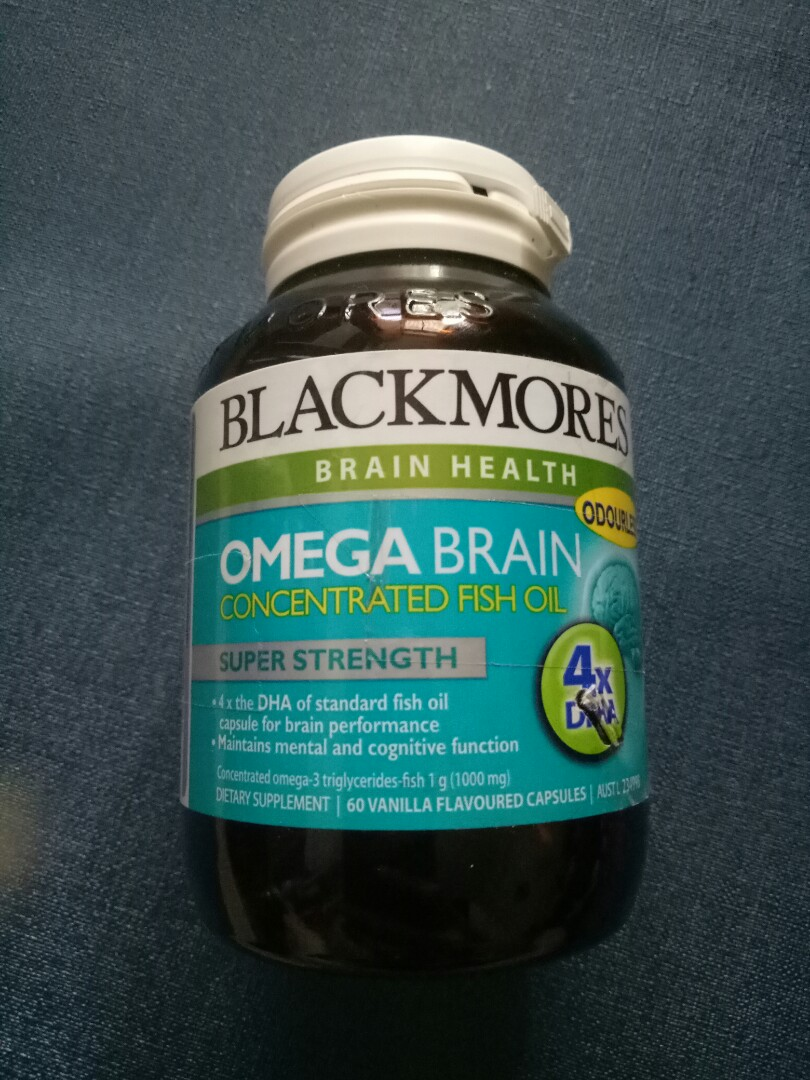 Blackmores Omega Brain Concentrated Fish Oil 60 Caps Daftar Harga Superkids Chewables Minyak Ikan Capsules Health Source Share This Listing