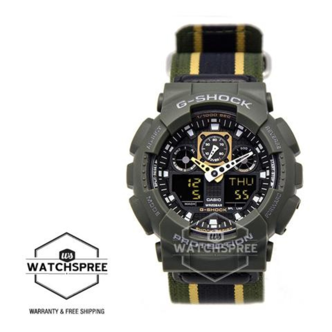 b38eec996139 FREE DELIVERY  CASIO GENUINE   GA100MC-3A  100% Authentic with 1 ...