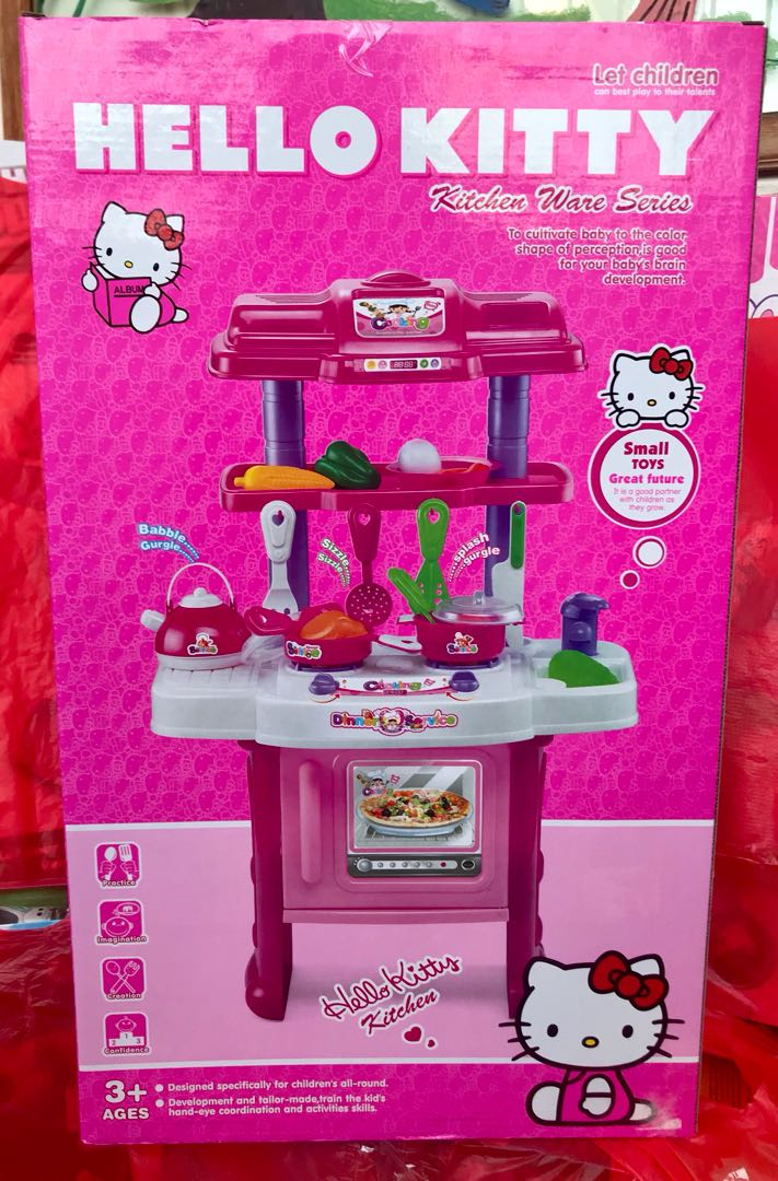 Hello Kitty Kitchen Set Babies Kids Toys Walkers On Carousell
