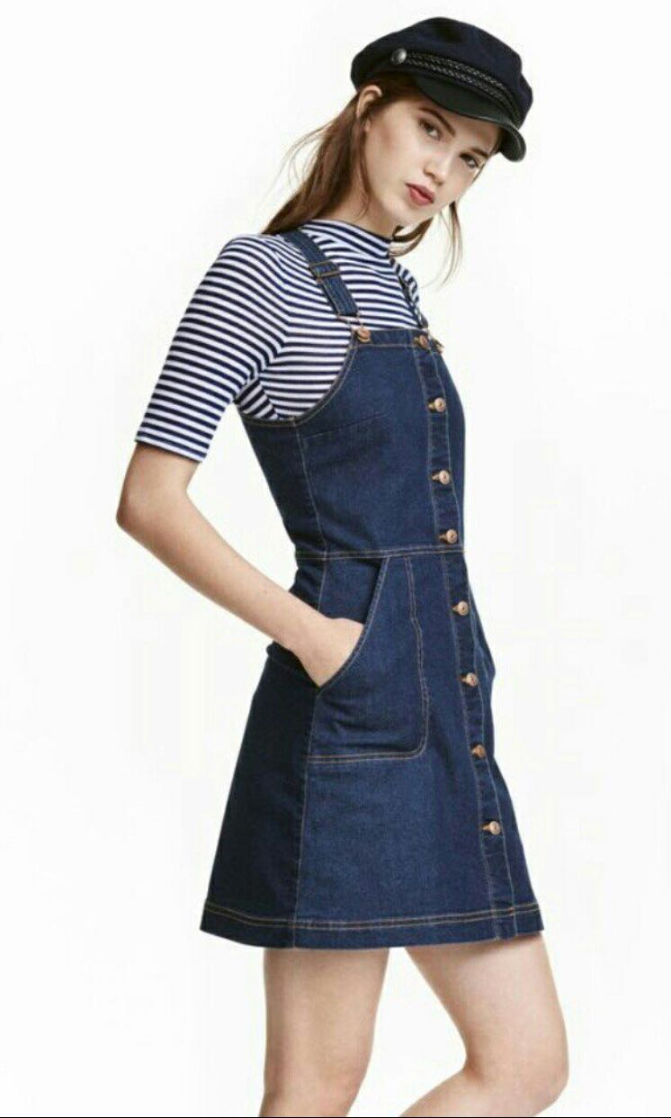 9acfe836f935 H&M Pinafore Dress, Women's Fashion, Clothes, Dresses & Skirts on Carousell
