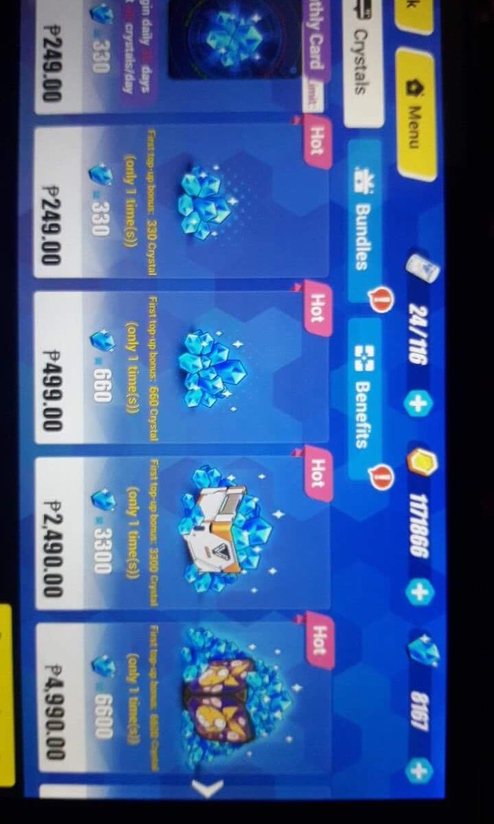 Honkai Blue Diamonds Toys Games Video Gaming In Game Products Topup 220 Mobile Legend On Carousell