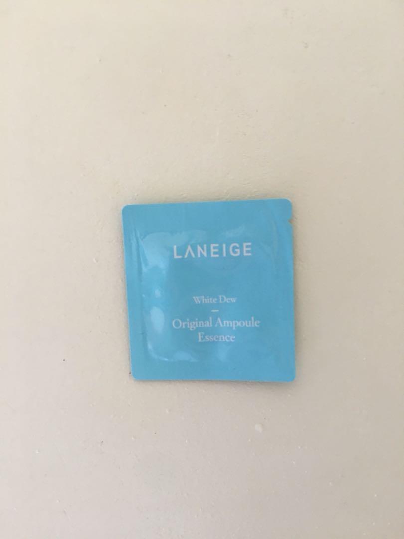 Laneige 3 Pcs Tester White Dew Original Ampoule Essence Preloved Set Photo