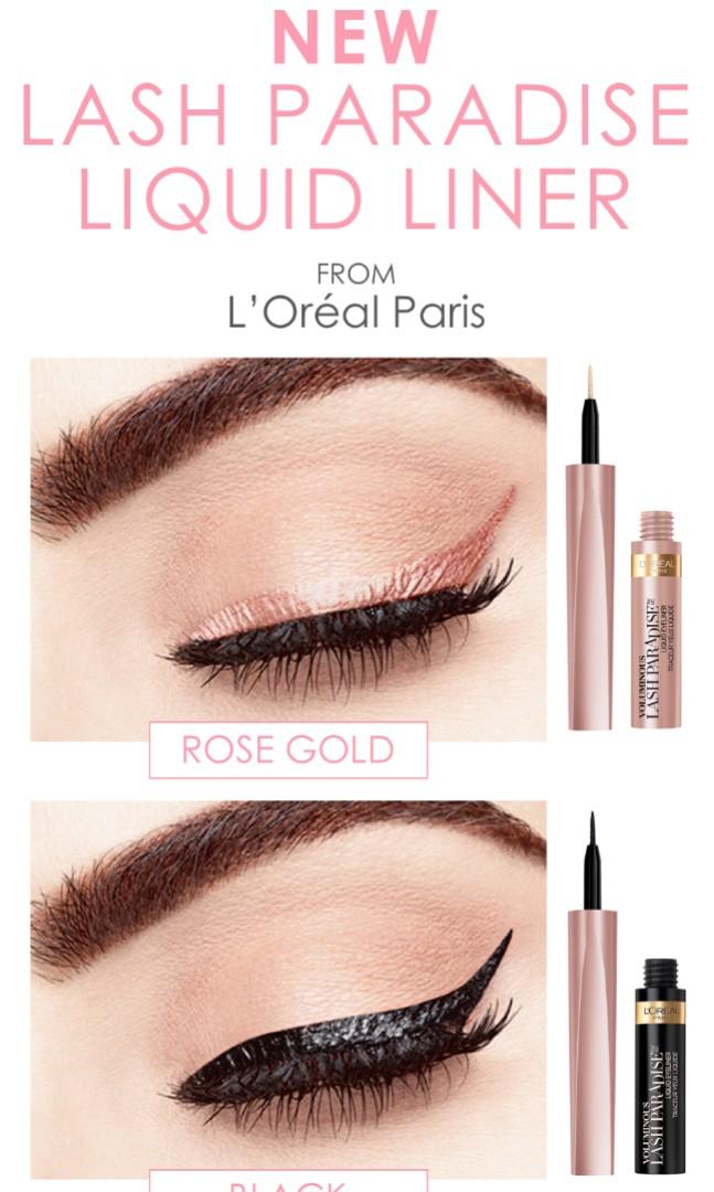 cbd10a66d69 L'oreal Voluminous Lash Paradise Liquid Eyeliner, Health & Beauty ...