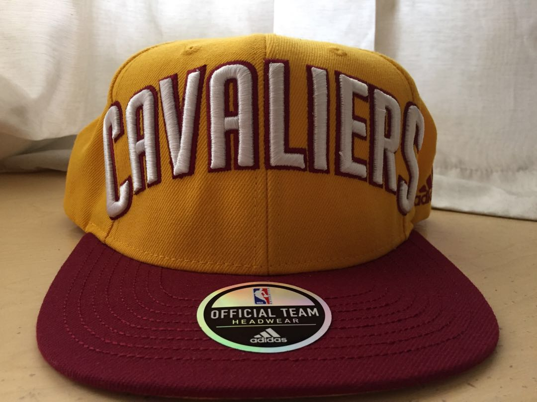aeba341b203 Men s Cleveland Cavaliers Adidas Gold Wine On Court SnapBack ...