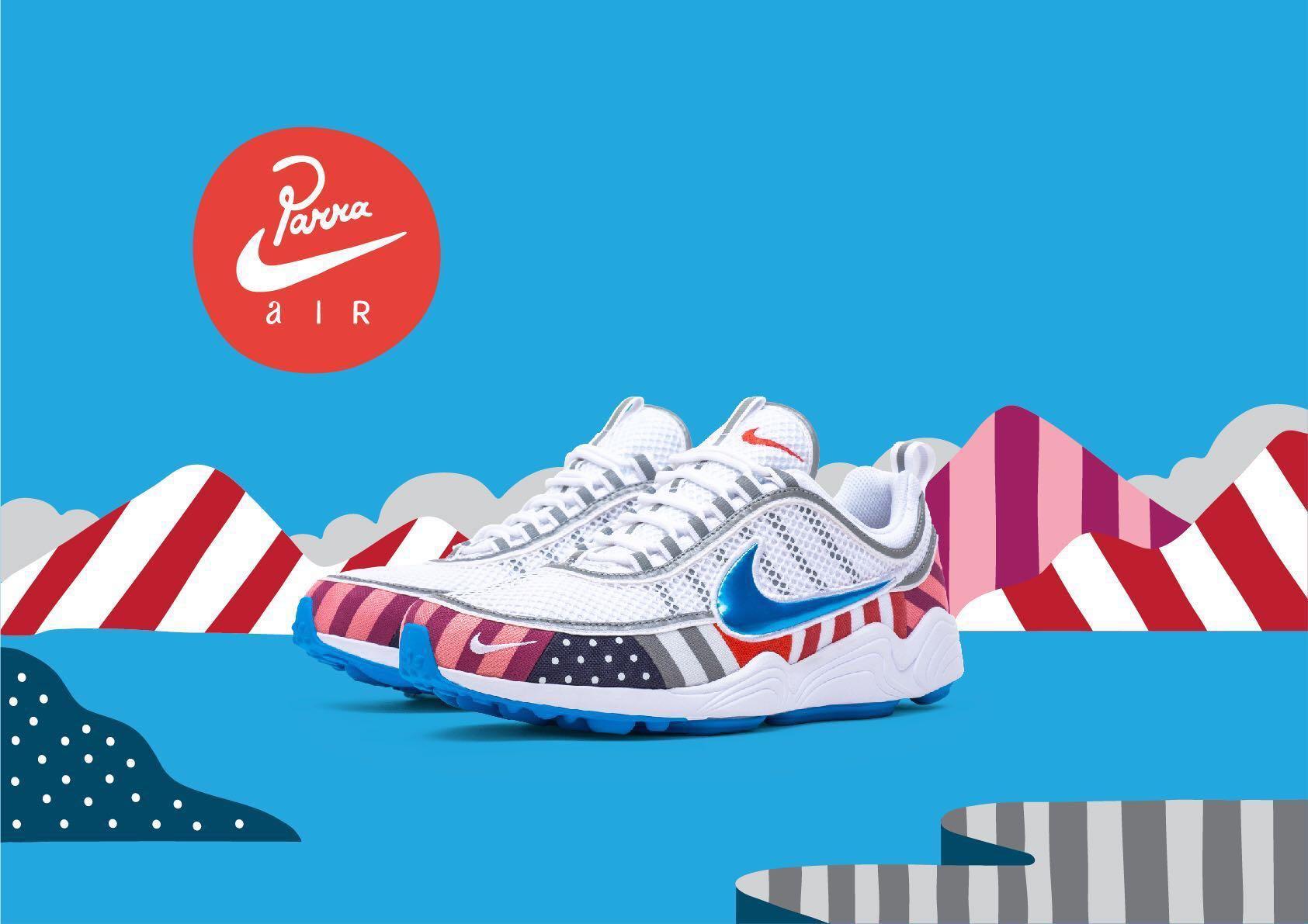0d266e5b4f Nike X Parra Air Zoom Spiridon, Men's Fashion, Footwear, Sneakers on ...