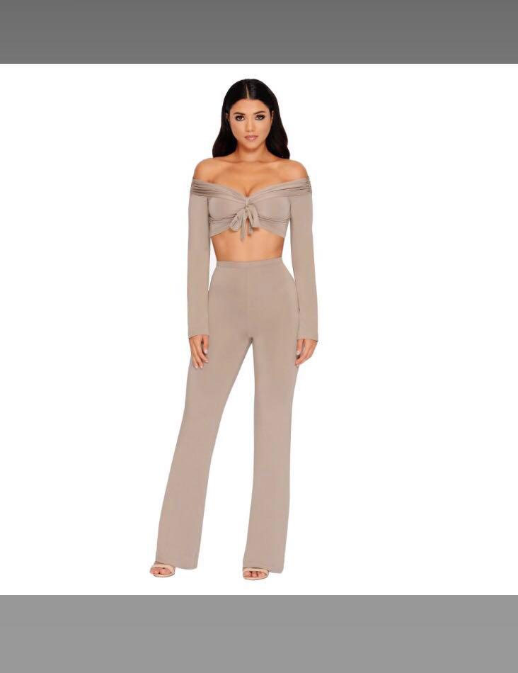 Oh Polly Two Piece Set in Mocha