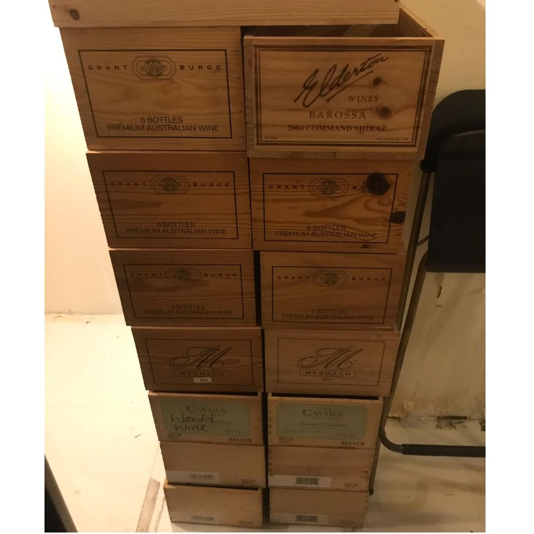 Open Top Wooden Wine Box And Crate On Carousell