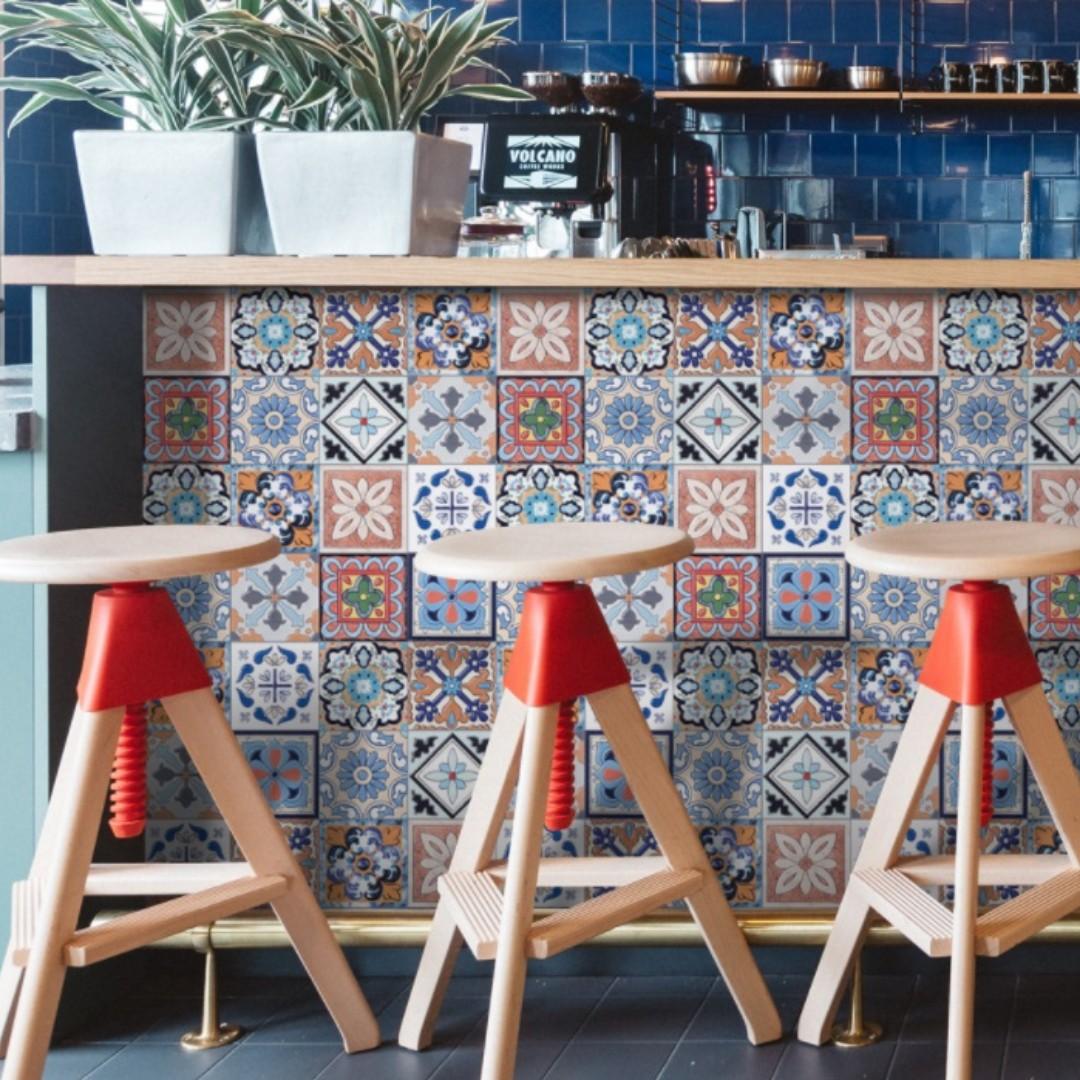 Peranakan Wallpaper Wall Home Decor Vintage Minimalist Furniture