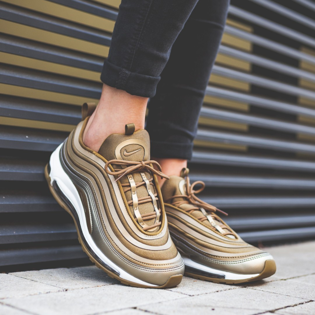 5c9c98d8d1 PO) Nike Womens Air Max 97 UL'17 Metallic Bronze, Women's Fashion ...