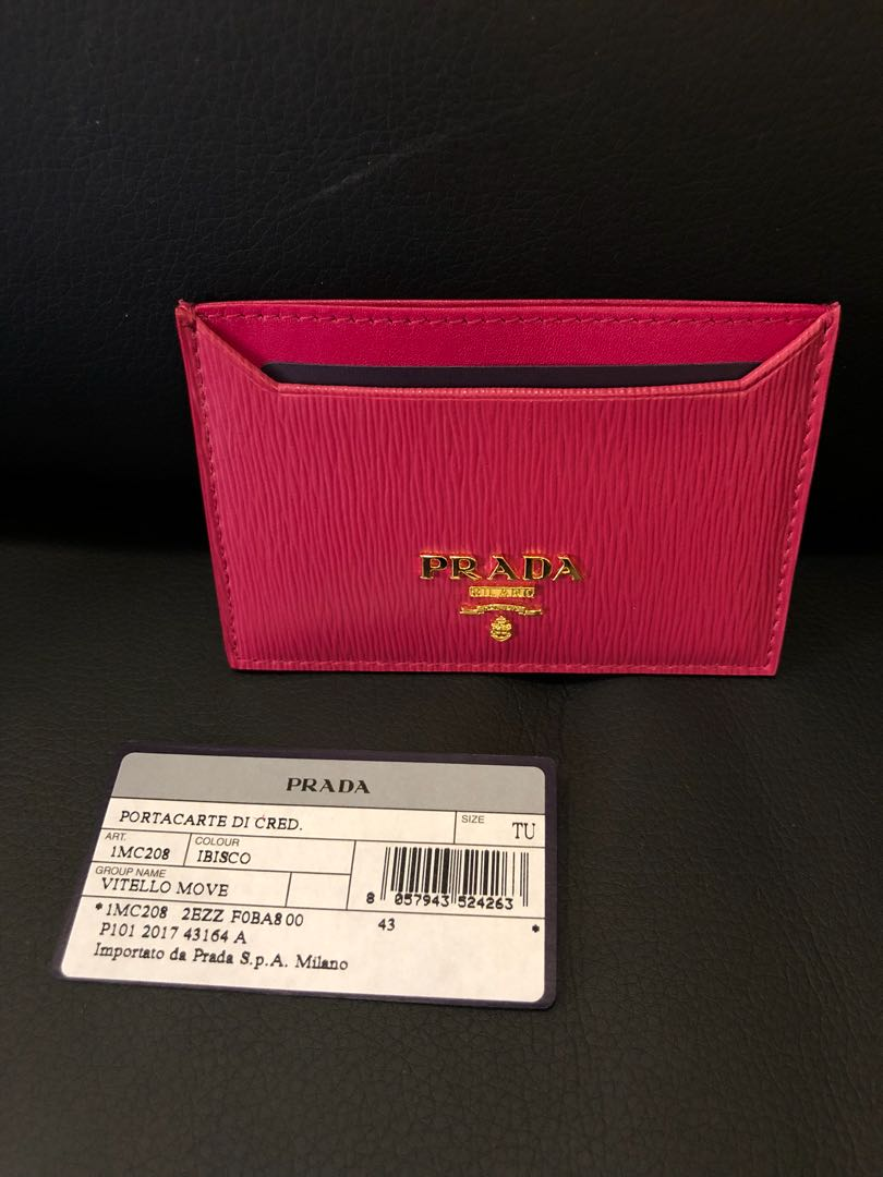 512183972ab172 Prada Card Holder Pink Authenticate, Luxury, Bags & Wallets, Others ...