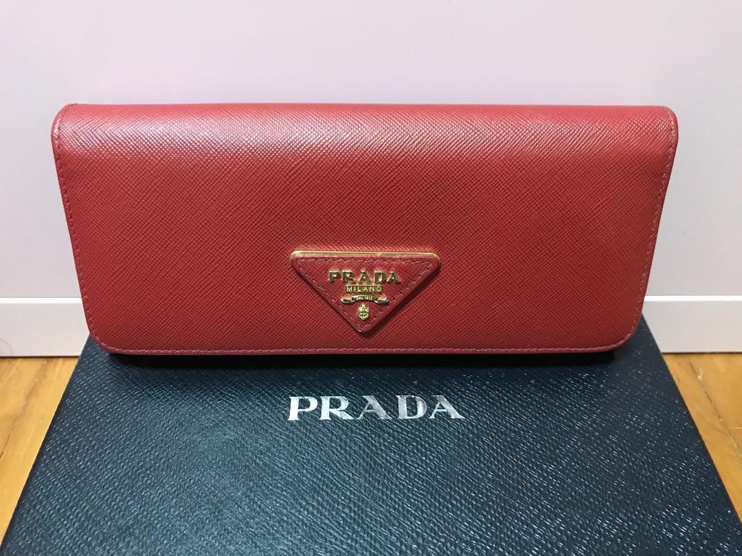 ee99605b3876 Prada Wallet Red (Original Milano)