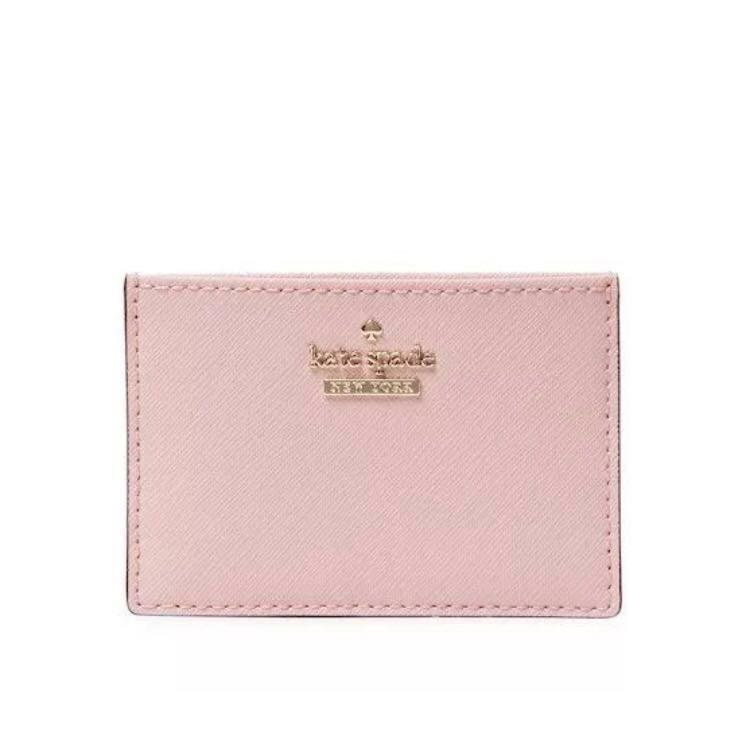 new style 71d03 25ce1 RARE INSTOCK Kate Spade Cameron Street Card Holder Pink Sunset Light Baby  Pink