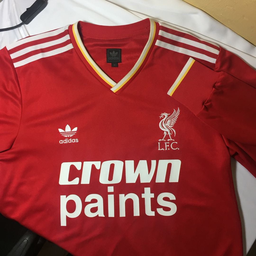 sports shoes c8035 dbb78 Retro Liverpool Jersey (Crown Paints)