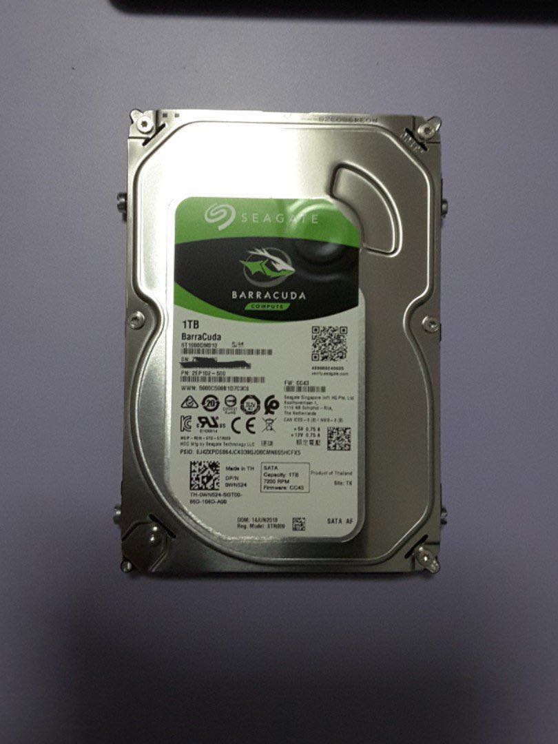 Seagate 1tb 7200rpm Sata 6gb S 35 Hdd Electronics Computer Parts Baracuda Photo