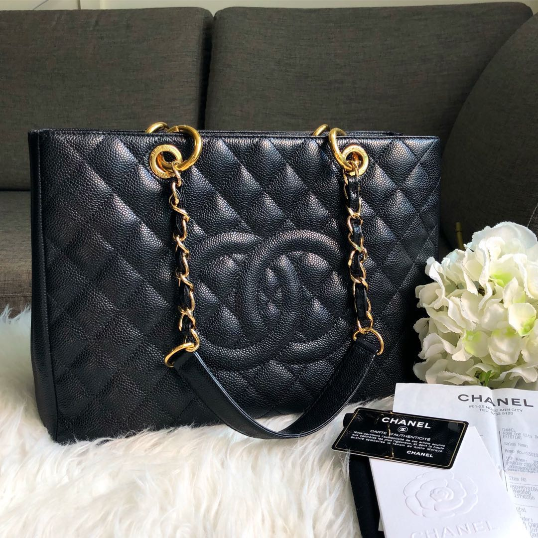 949b8e81b128 ❌SOLD❌ Chanel GST Grand Shopping Tote in Black Caviar GHW, Luxury ...