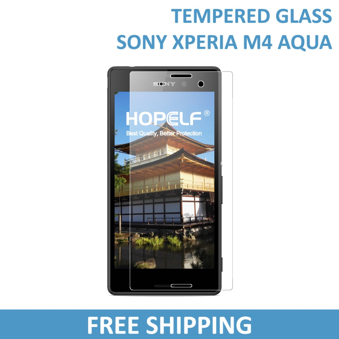 Sony Xperia M4 Aqua Tempered Glass Screen Protector, Mobile Phones & Tablets, Mobile & Tablet Accessories, Mobile Accessories on Carousell