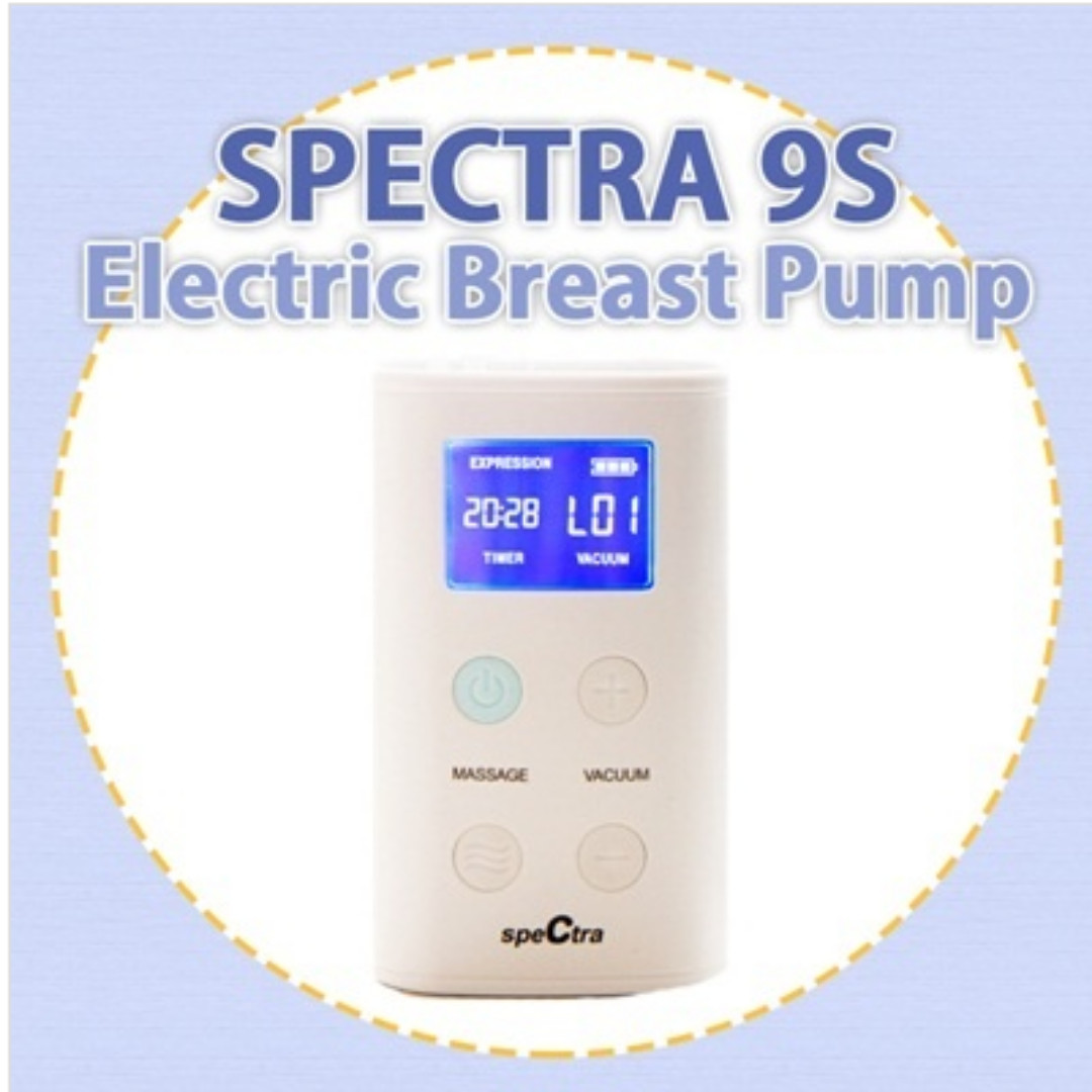 Spectra 9 Double inhaler set componented Electric PORTABLE Breast Pump Used