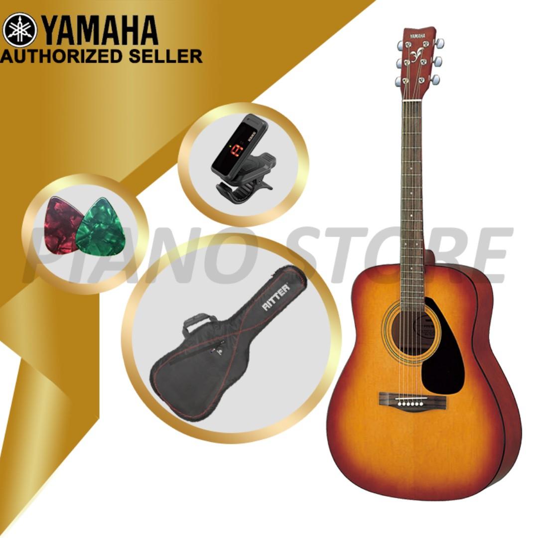 THE PIANIST STUDIO | Yamaha Acoustic Guitar F310 with Gig Bag & Tuner & Guitar Picks Singapore Sale!