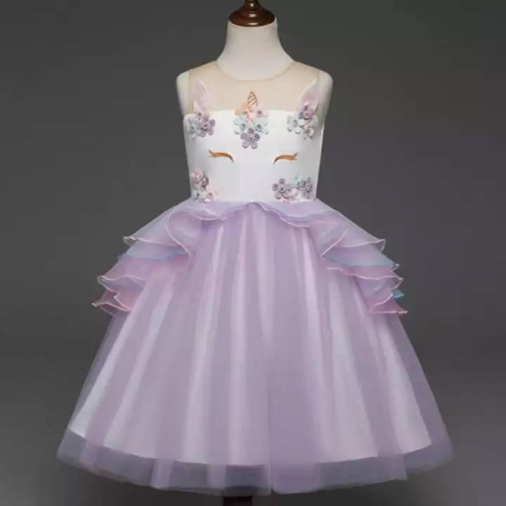 Girl Unicorn Party Dress [ Pre Order ] -- Purple