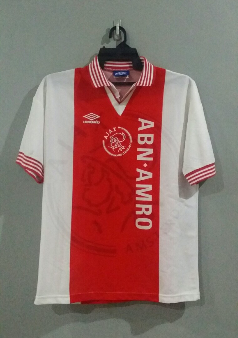 f91ab0bed Vintage Ajax Amsterdam 1996 1997 Home Jersey
