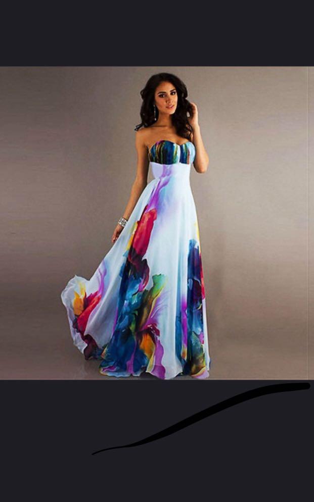 0bda58b441298c Vintage Dress Sexy Wrapped Sleeveless Off-Shoulder Floral Maxi Dress ...