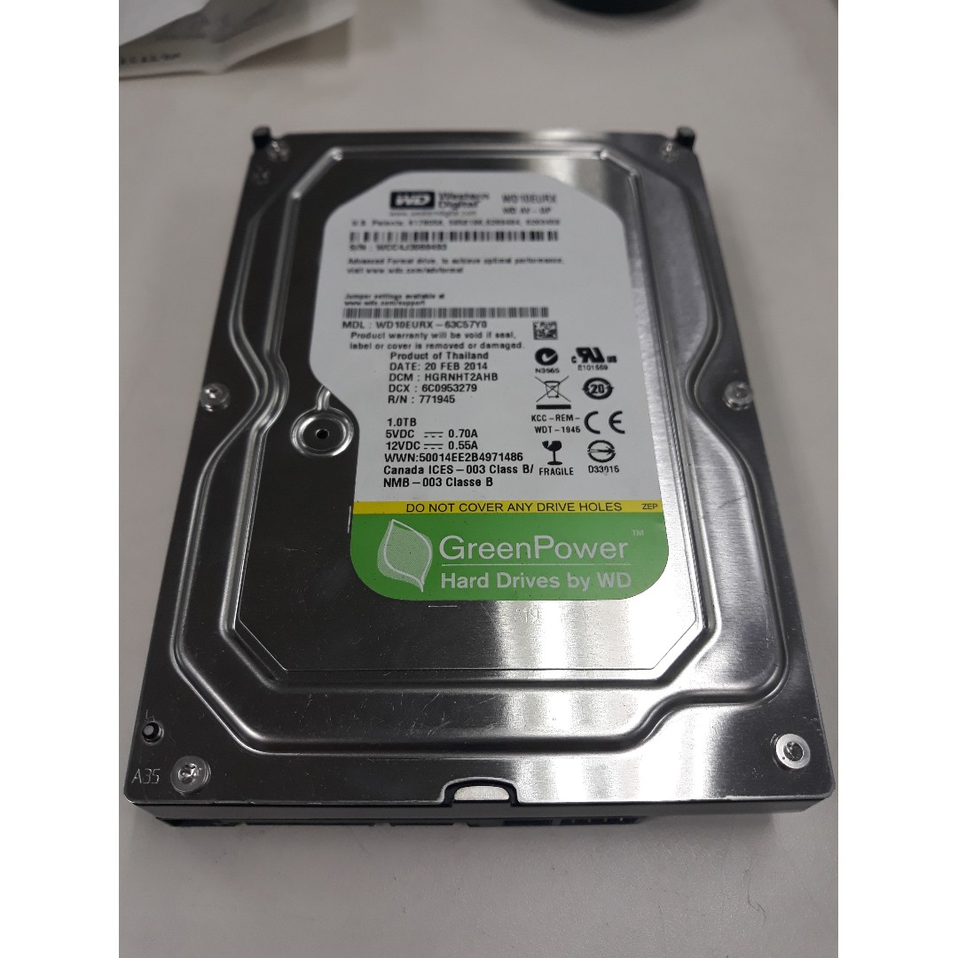 Wd 35 1tb Hard Disk Electronics Computer Parts Accessories On Hardisk Notebook Toshiba 25 Inch Sata Photo